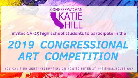 Congresswoman Katie Hill Announces Congressional Art Competition.