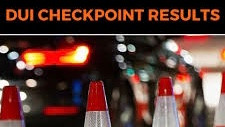 Lancaster DUI Checkpoint Results, 677 vehicles were screened.