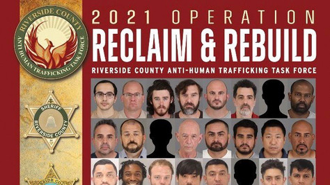 64 people arrested, 2 women rescued during anti-human trafficking operation in Riverside County