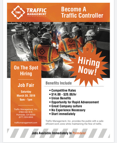 Looking for a job ?Become A Traffic Controller,withTraffic ManagementInc.