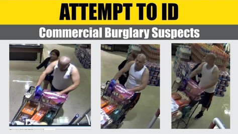 Your assistance is needed in identifying this commercial burglary suspect.