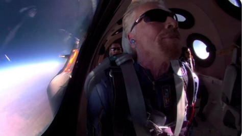 Virgin Galactic's rocket reaches space with Richard Branson on board