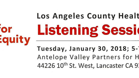 Listening Session Held at Antelope Valley Partners for Health (AVPH)