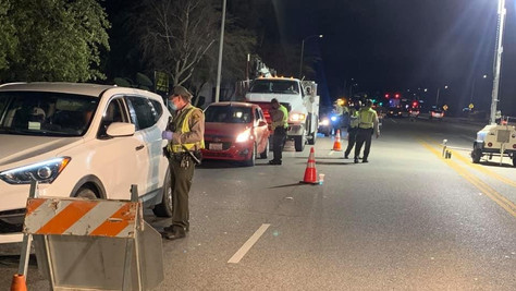 Two drivers were arrested for driving under the influence, while thirty-six drivers were cited.