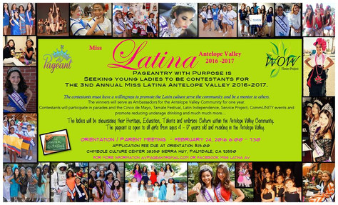 Miss Latina AV is seeking ladies!