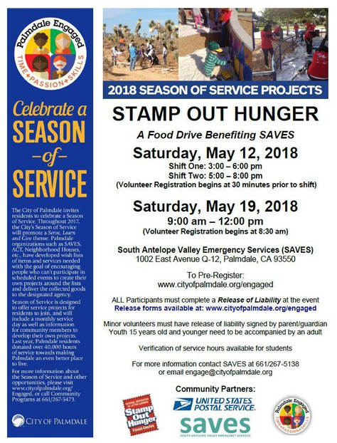 Volunteers Sought for Stamp Out Hunger Food Drive to Benefit SAVES