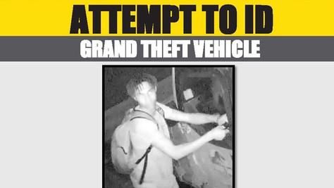 Help LASD identify Grand Theft Suspect.