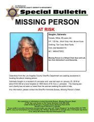 Missing At Risk Elderly Person, Sahmela Vaughn from Lancaster, Ca.