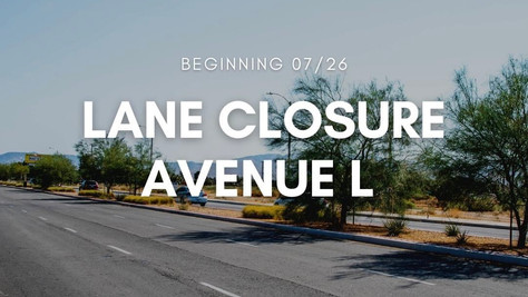 City of Lancaster Road Closures Update.