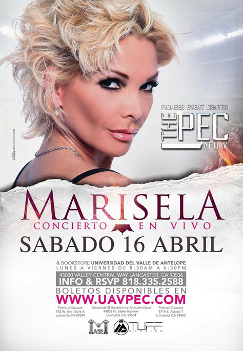 Win A Pair Of Tickets To See Marisela At The Pioneer Event Center