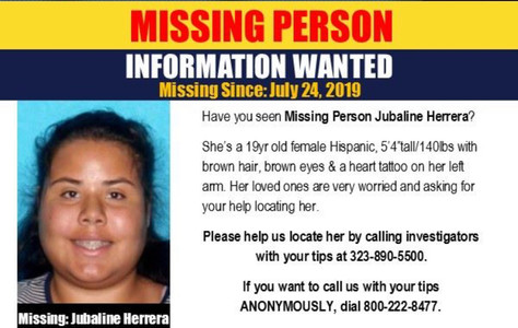 Missing Person From Palmdale.