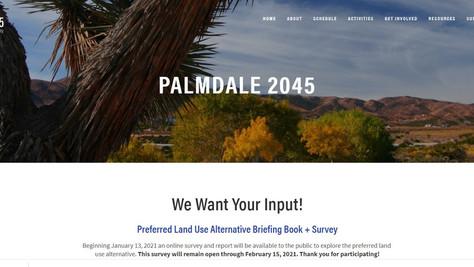 Last Chance to Take Palmdale's General Plan Land Use Alternative Survey