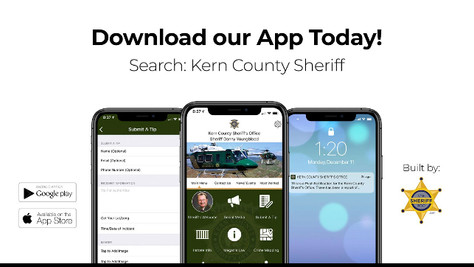 The Kern County Sheriff's Office is excited to announce the launch of the The Sheriff's App