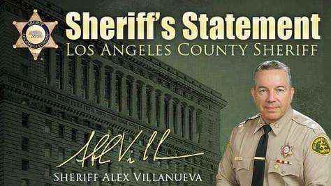 SHERIFF ALEX VILLANUEVA ON MASKING
