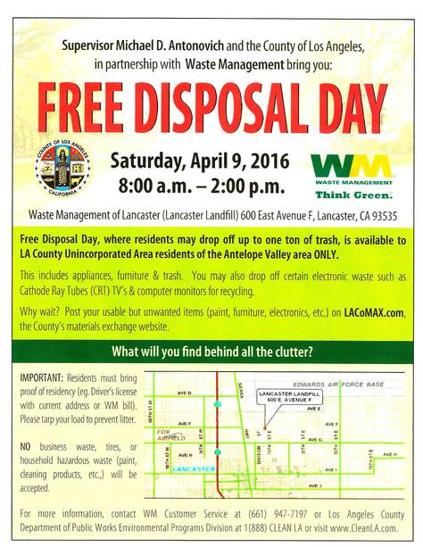 Free Disposal Day