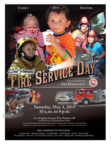 LA COUNTY FIREDEPARTMENT 22nd ANNUAL FIRE SERVICE DAY