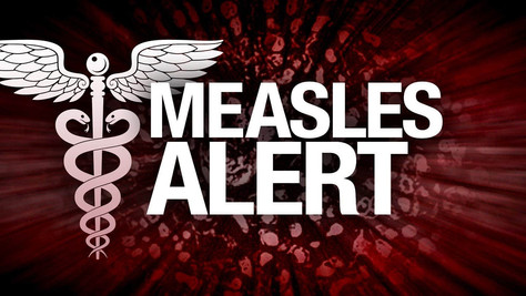 A person diagnosed with measles,visited Popeye's Restaurant in Arvin.