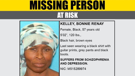 Missing Person Bonnie Renay Kelley From Lancaster.
