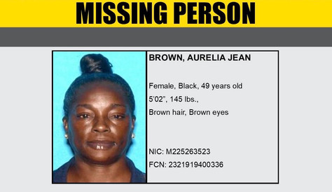 Missing Person Aurelia Jean Brown From Lancaster.