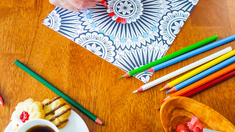 Coffee & Coloring for Adults: Relaxation You Can Take Home