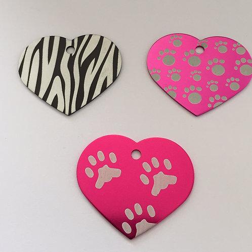 TAG (Modelo Coração Animal Print)