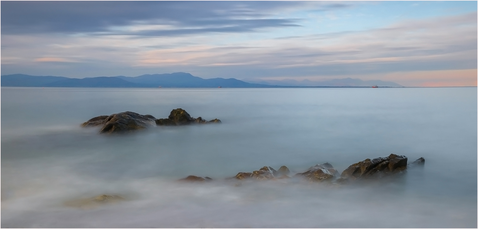 Salterstown bay and rocks