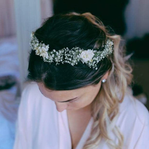 flower crown in hair