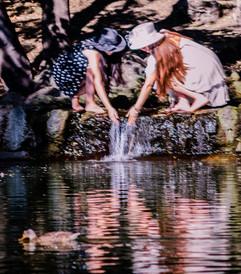 Julie & Sakura at Falls