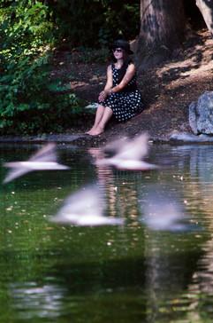 Julie on Pond