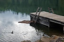 Small, Inviting Pier on Tranqiul Lake
