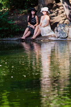 Julie & Sakura on Pond