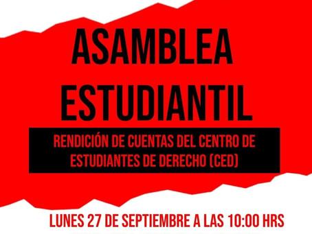 Estudiantes de derecho de la UMSS llaman a una asamblea estudiantil para rendición de cuentas