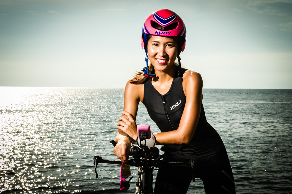 Triathlete portrait with Edgy Resilience