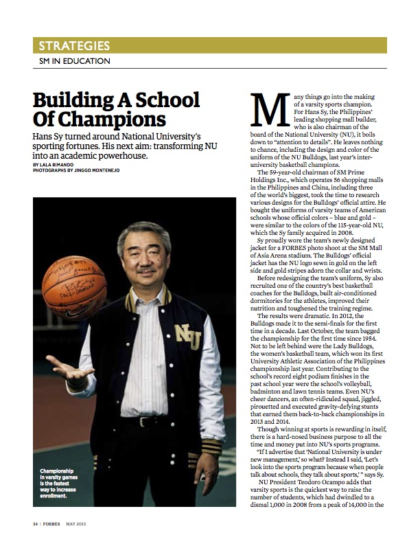 Hans Sy for Forbes Magazine