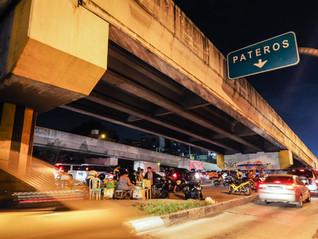 Eateries under an overpass, C5