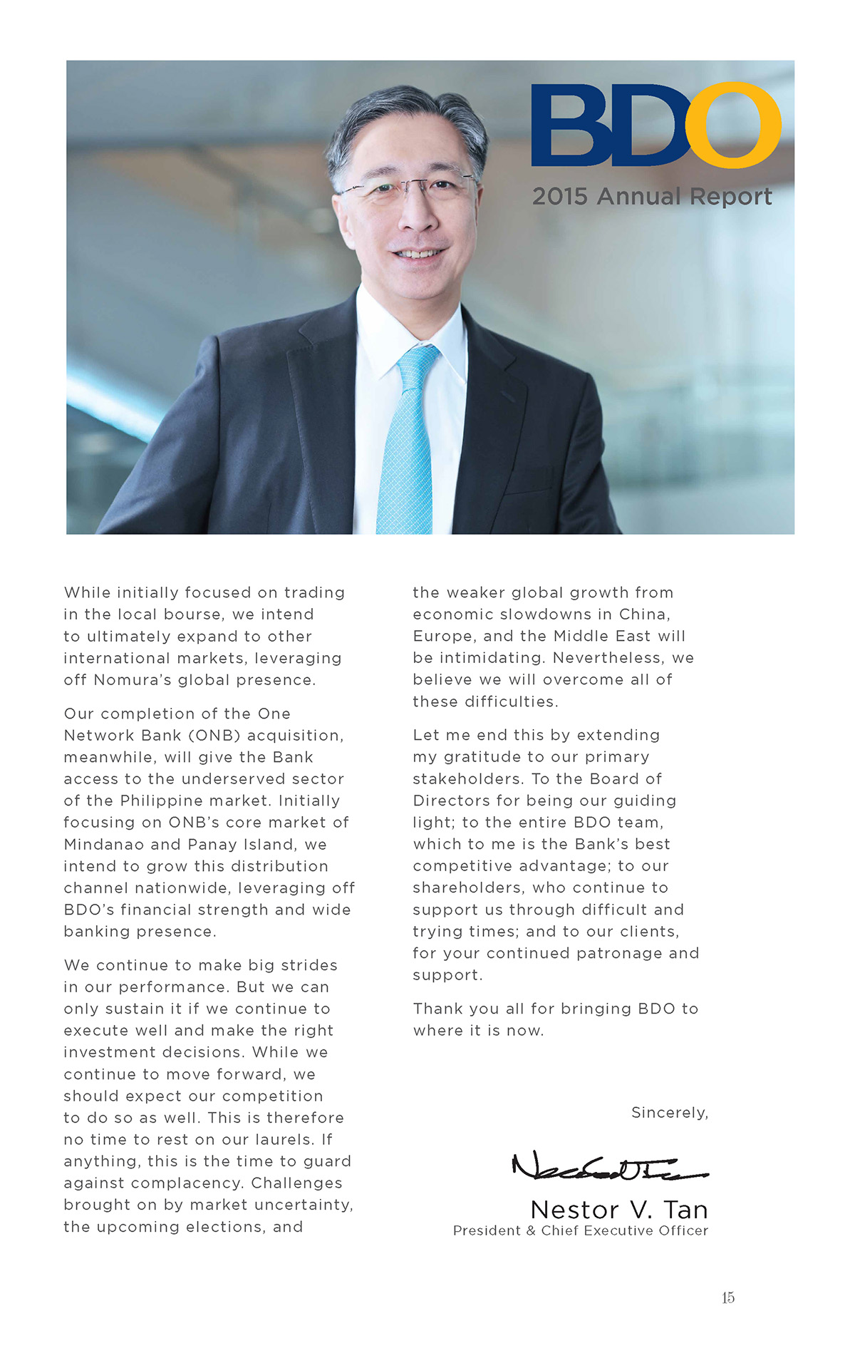 BDO 2015 Annual Report-Nestor Tan