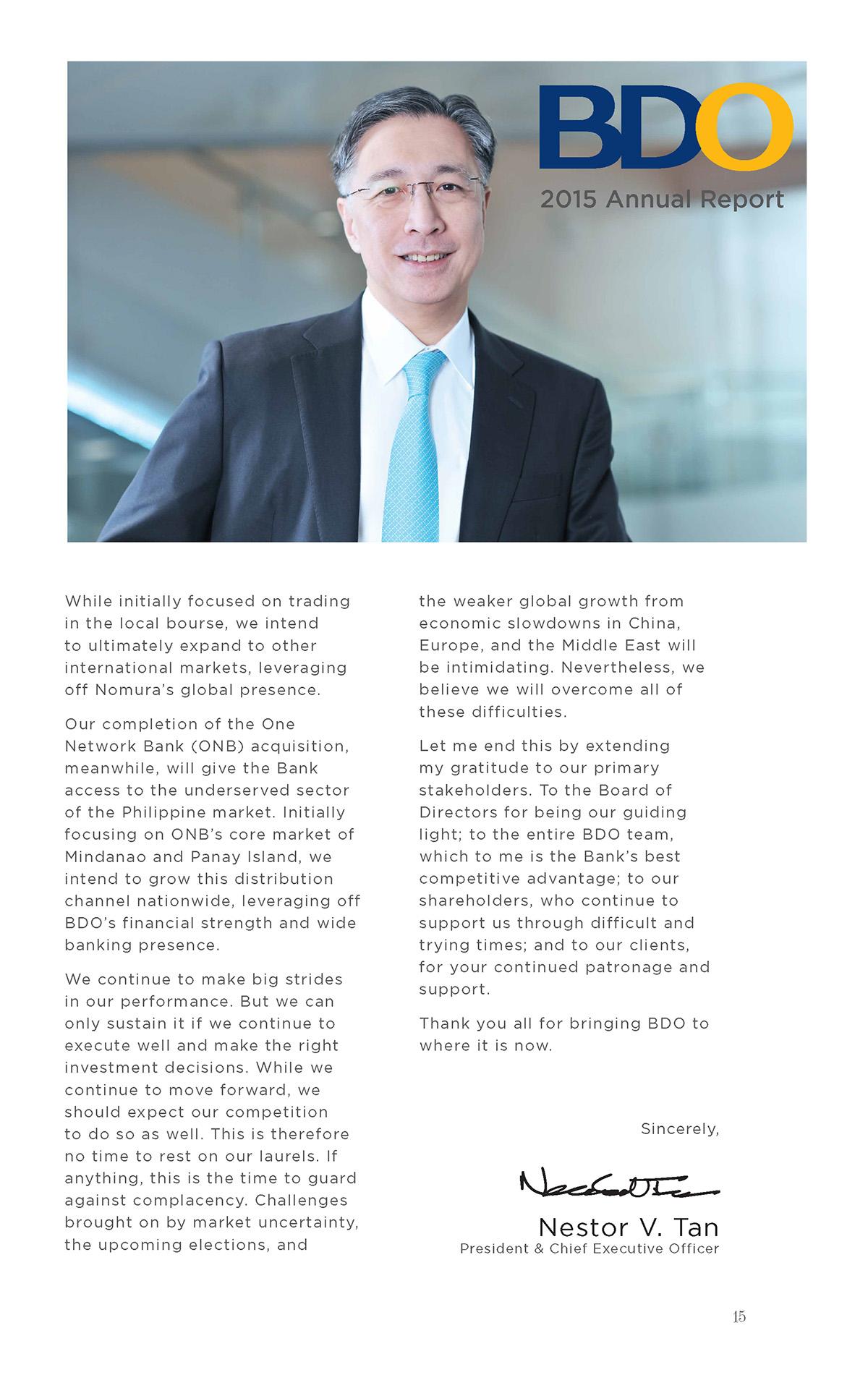 BDO 2015 Annual Report-Nestor Tan