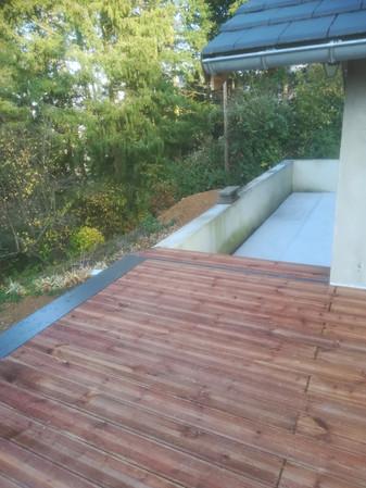terrasse bois et escalier étanchéité