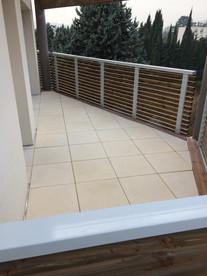 Terrasse dalettes sur plots étanchéité