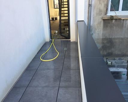 étanchéité dallettes sur plots et couvertines sur toit terrasse