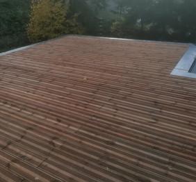 terrasse bois et couvertines étanchéité