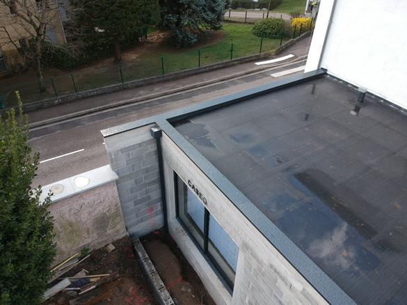 vue aérienne toit plat étanchéité