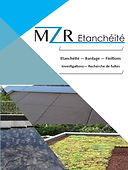 Plaquette commerciale MZR étanchéité