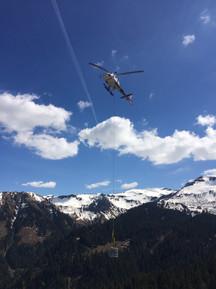 Hélicoptère étanchéité livraison
