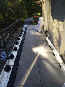 Dalettes sur plots balcon terrasse étanchéité