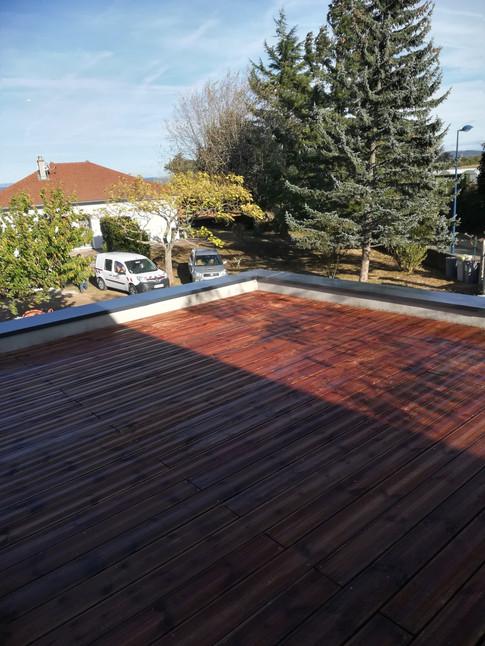 Toit terrasse finition bois étanchéité