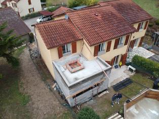 toit terrasse extension étanchéité
