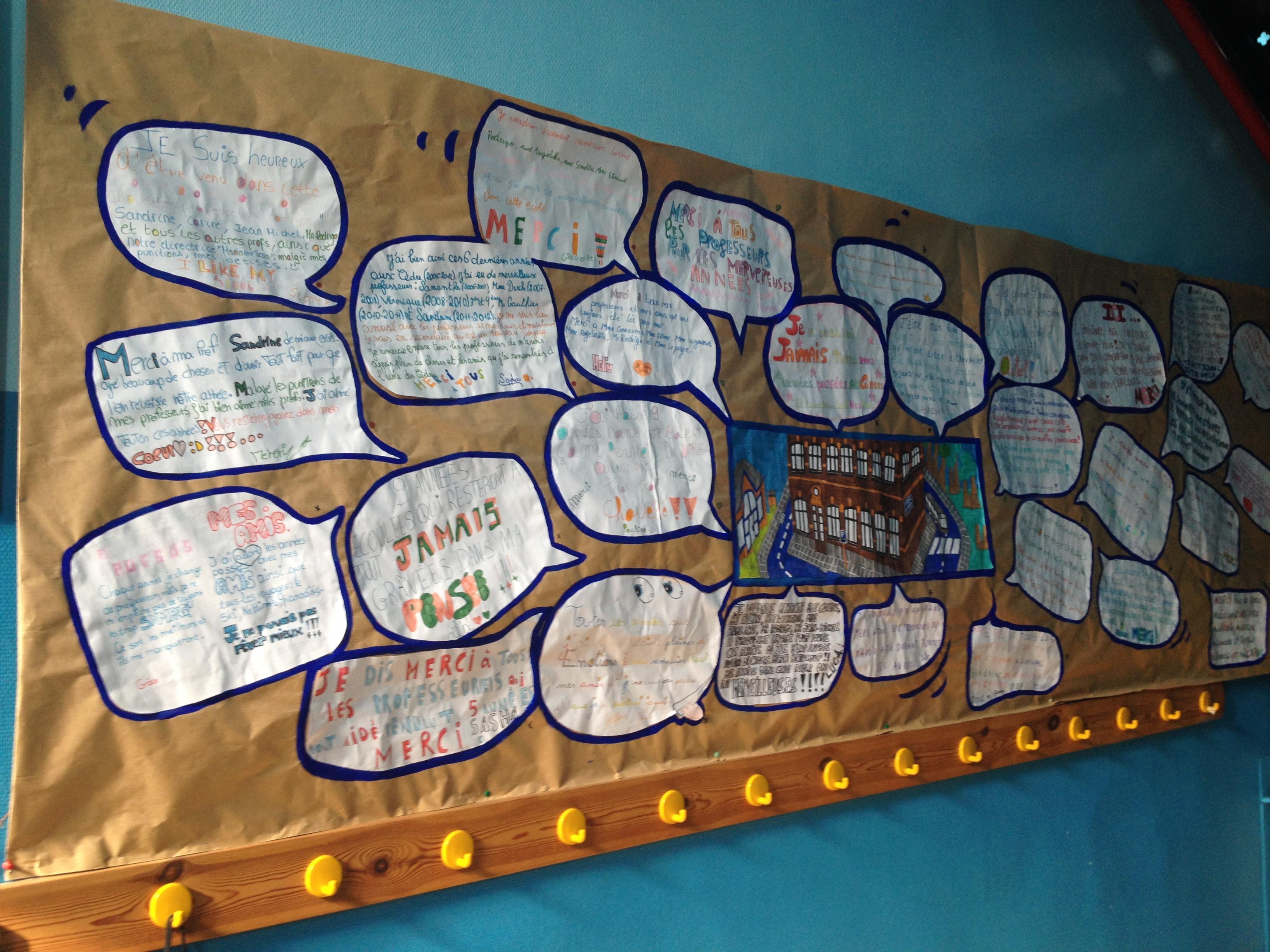 Fresque murale des 6èmes primaires