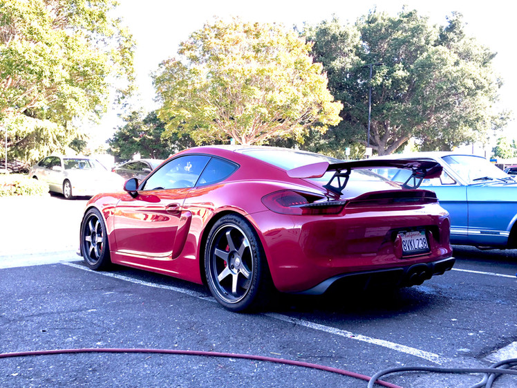 Porsche GT4 W/ TE37 Custom Wheels