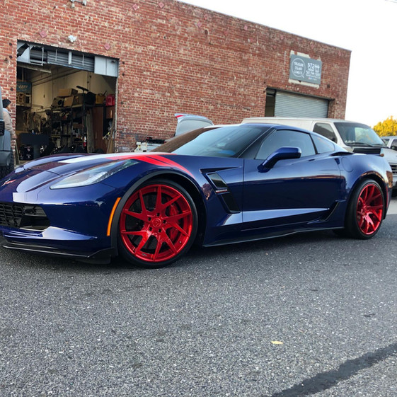 C7 Corvette Z06 W/ Custom Forgiato Wheels